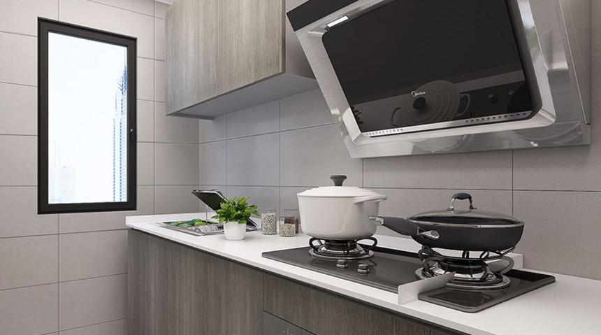 杭州装修公司2室1卫1厅110平米现代简约风格_厨房