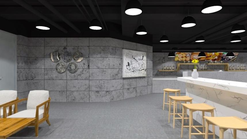 杭州装修公司设计_墙的后面是操作间