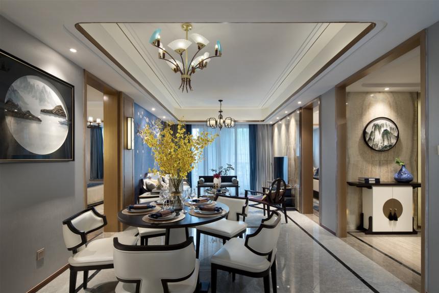 126m2新中式餐厅装修效果图