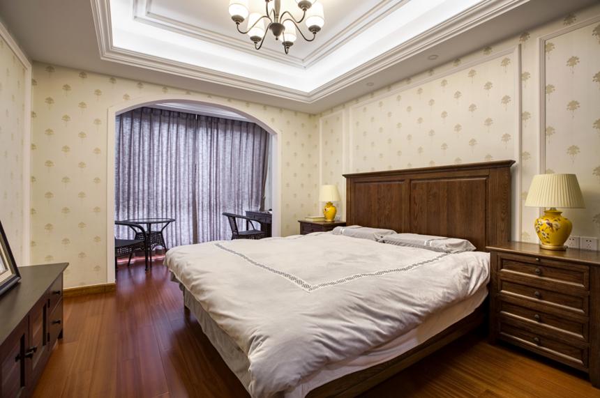 杭州装修公司中式风格别墅卧室装修效果图