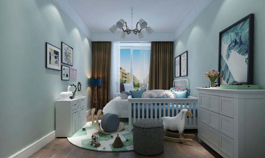 杭州装修公司179平新中式风格小孩房装修效果图