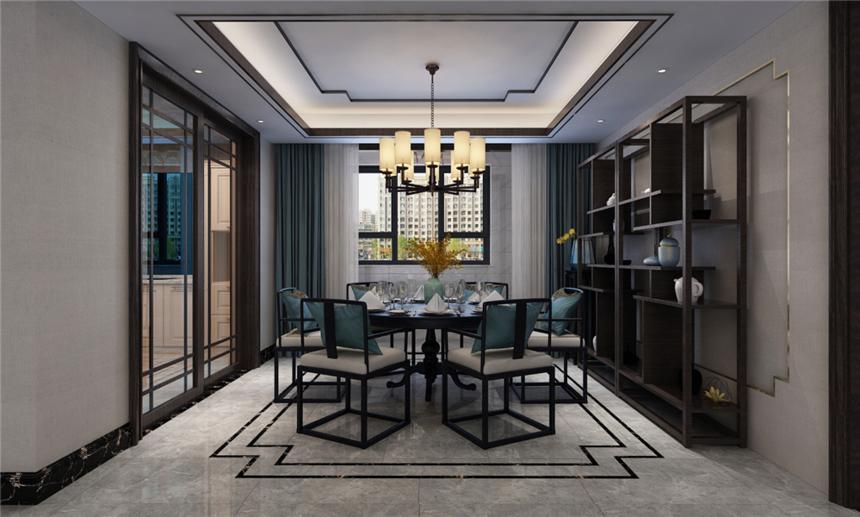 杭州装修公司179平新中式风格厨房装修效果图