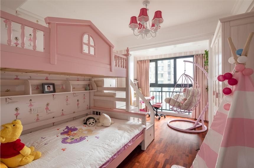 130平美式三居儿童房装修效果图