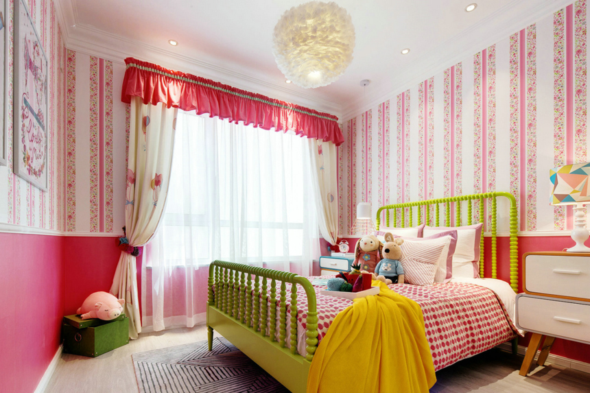 95㎡多彩混搭卧室装修效果图