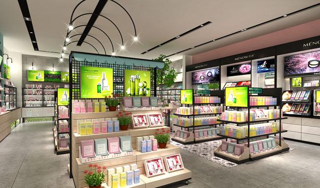 杭州装修公司大品牌化妆品店设计效果图