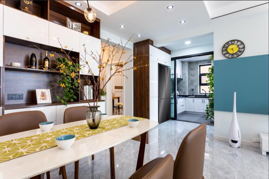 杭州装修公司现代北欧两居室餐厅装修效果图