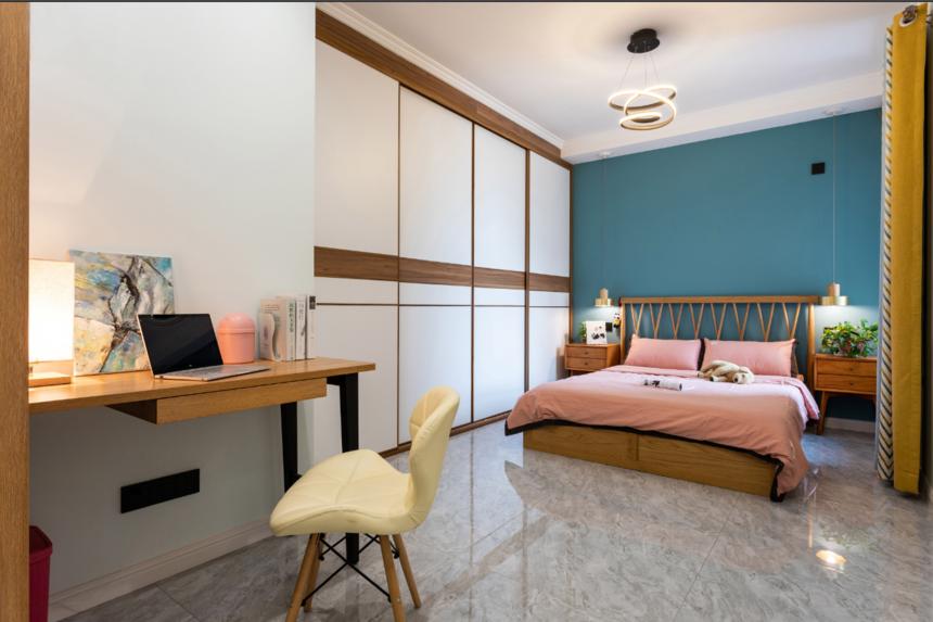 杭州装修公司现代北欧两居卧室装修效果图