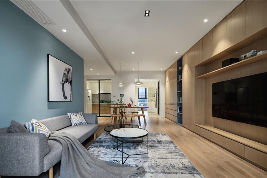 190平复式北欧客厅装修效果图