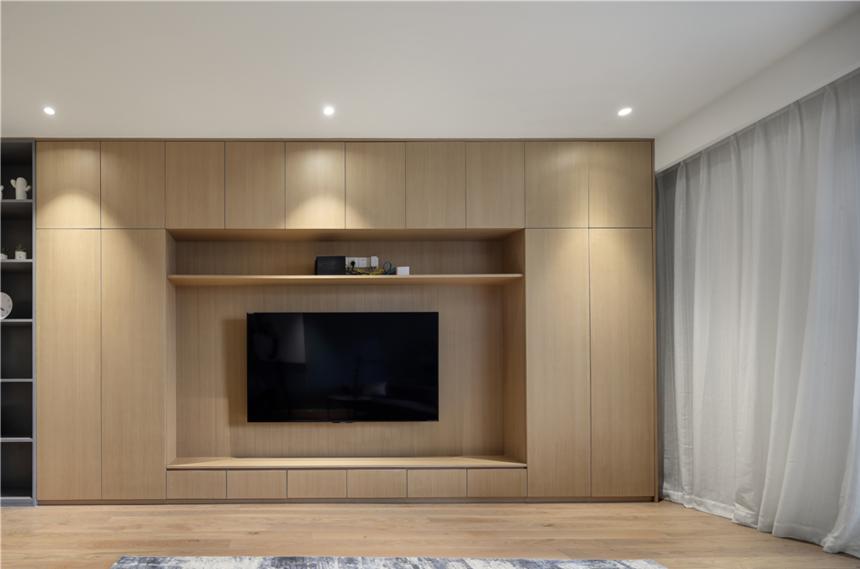 190平复式北欧电视背景墙装修效果图