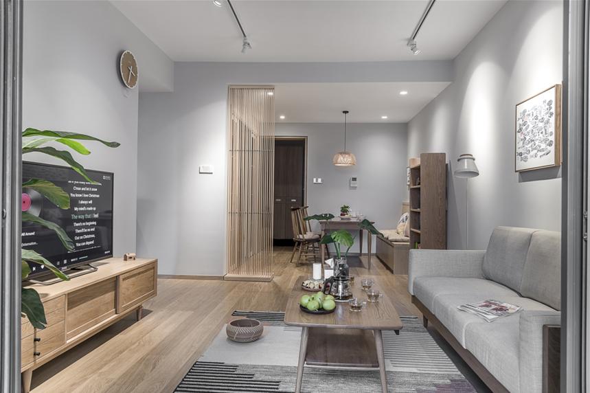 日式风格两居客餐厅装修效果图