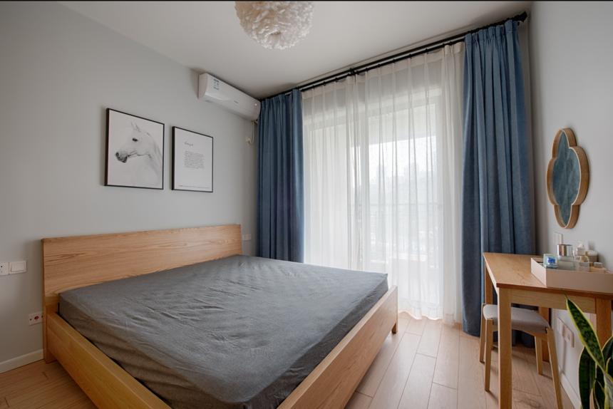 杭州装修公司80㎡简约两居卧室装修效果图