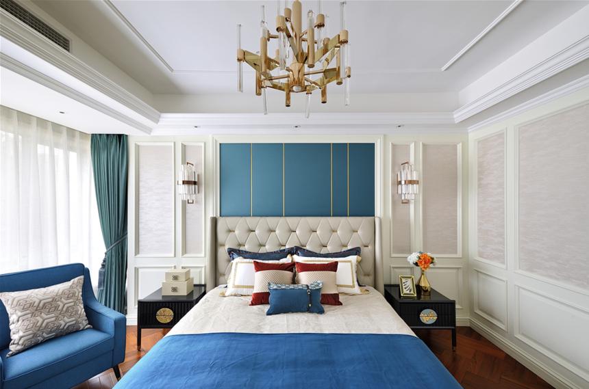 大户型美式轻奢卧室装修效果图