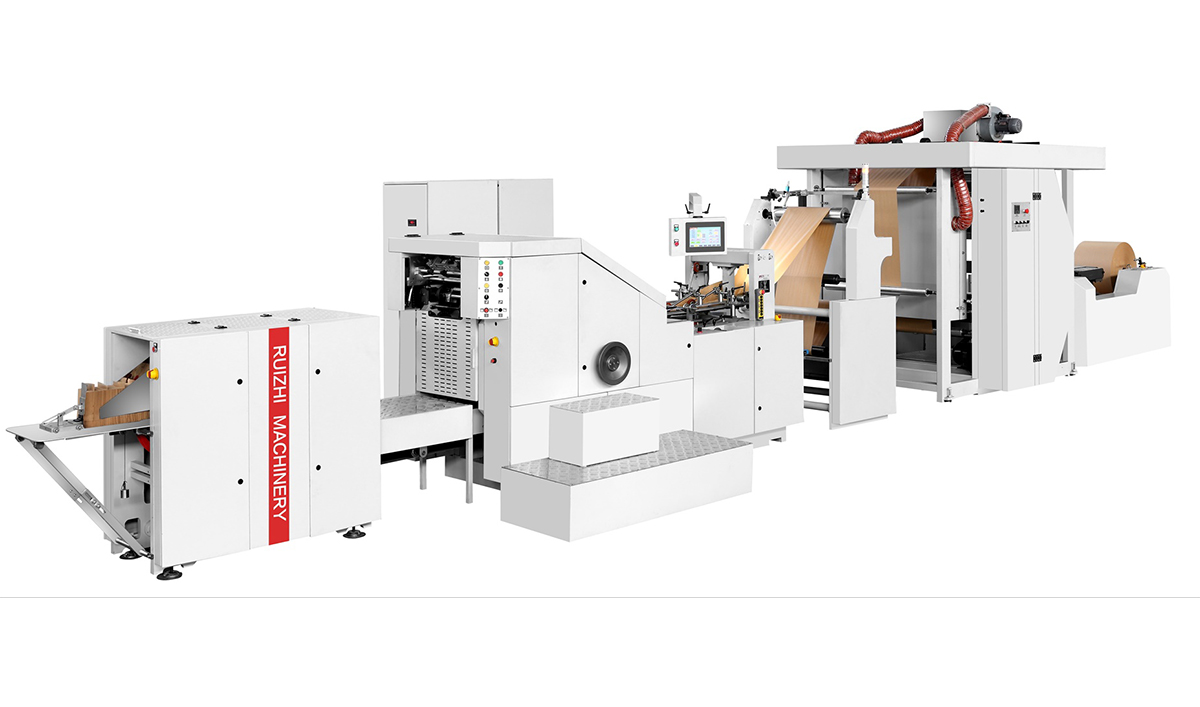 paper bag machine with2colors printing machin