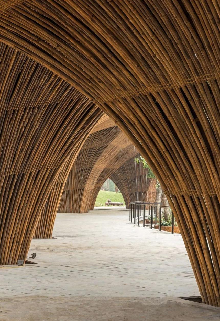 原竹建筑工程案例效果图