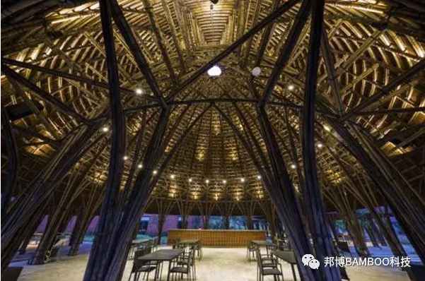 原竹建筑效果图——迈阿密海滩上的竹林仙境