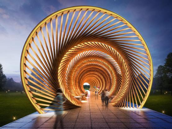 竹建筑,竹长廊