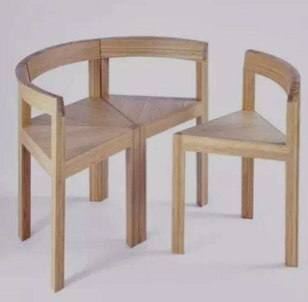 竹材彎曲膠合家具