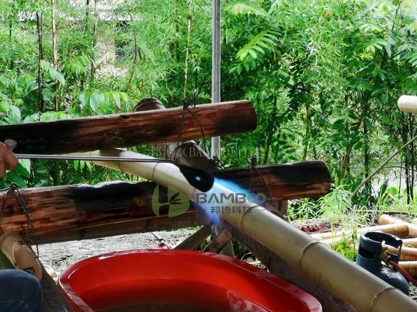 原竹矫直处理工艺