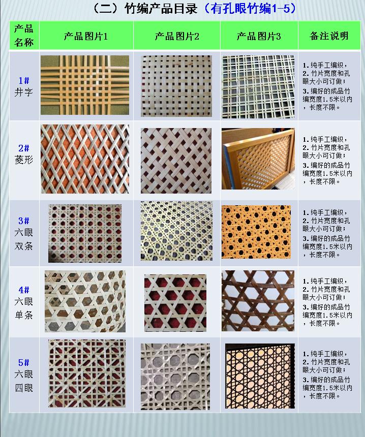 竹编产品目录