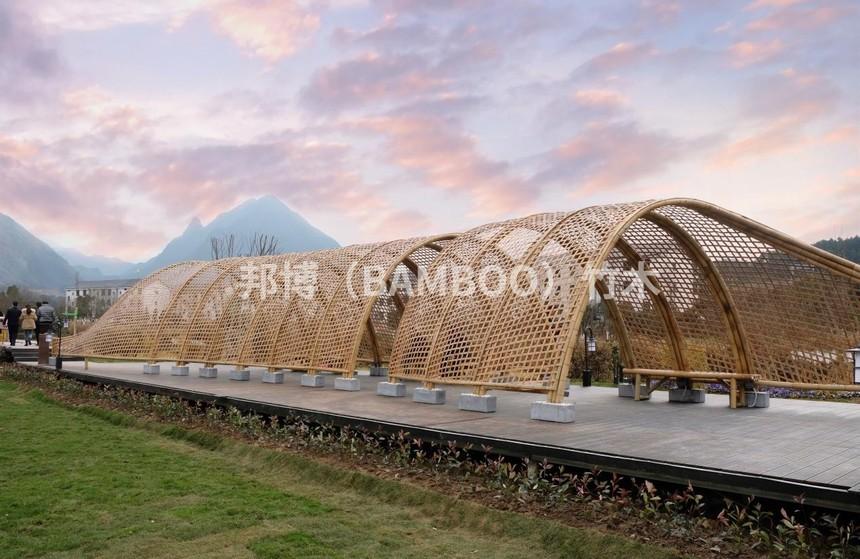 竹廊,竹编织