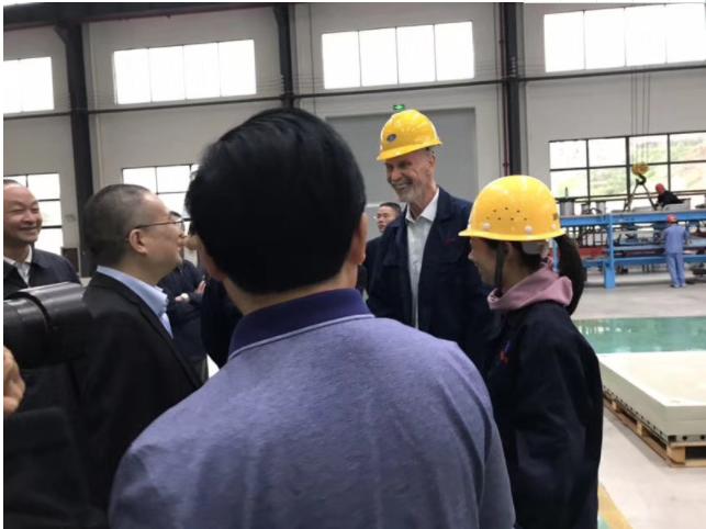 杭州市西湖区领导与埃柯赛德国技术专家沟通