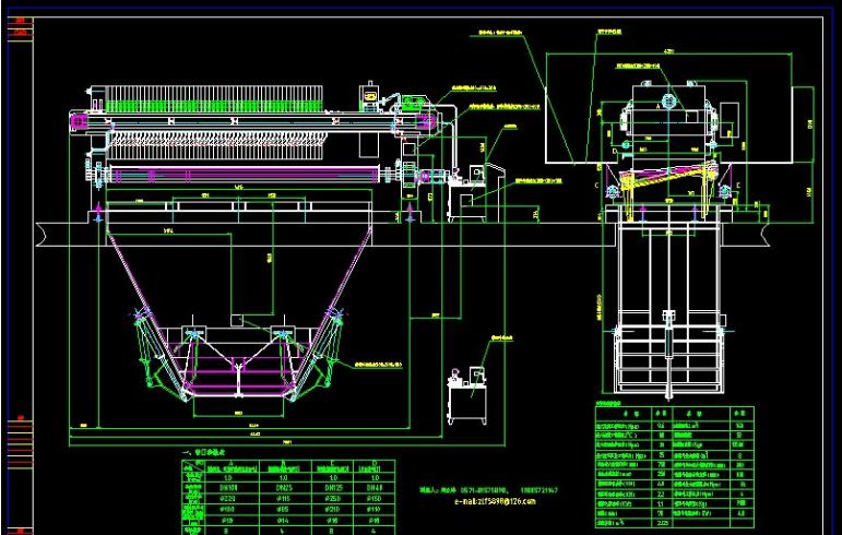 板框压滤机总装图及原理图