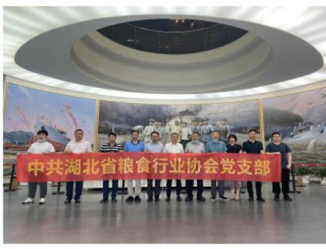 发扬红色精神、传承红色基因、促进行业发展 —— 湖北省粮食行业协会开展主题党日活动