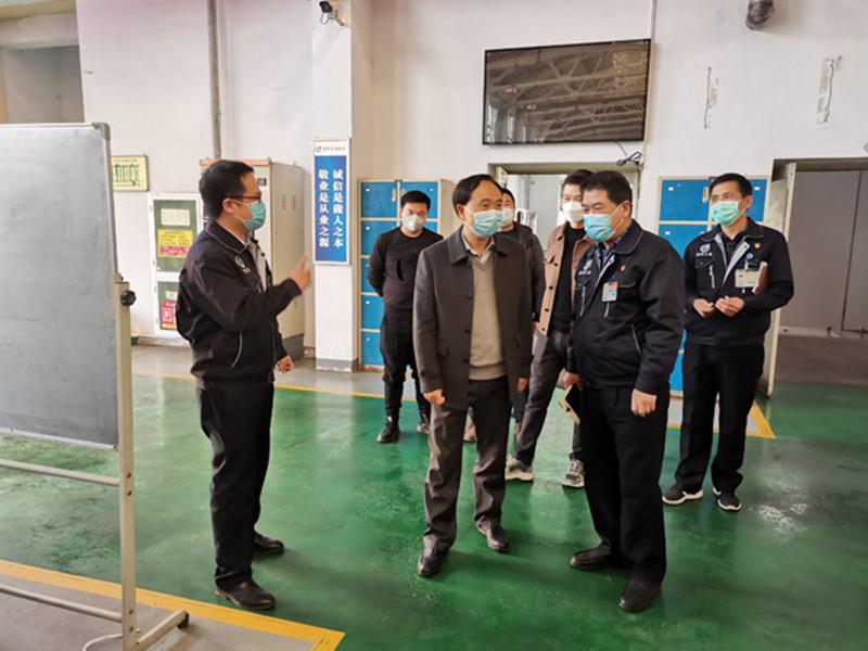 苏智刚带队驻点帮扶重点项目、重点企业复工复产