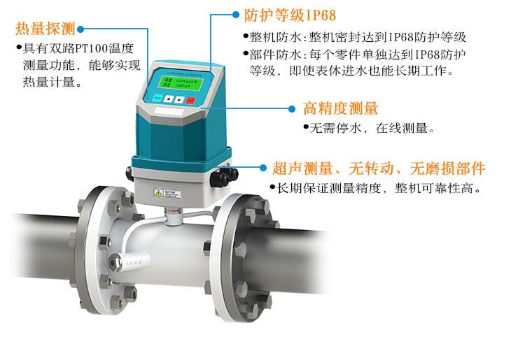 一体管段式超声波流量计TDS-100Y