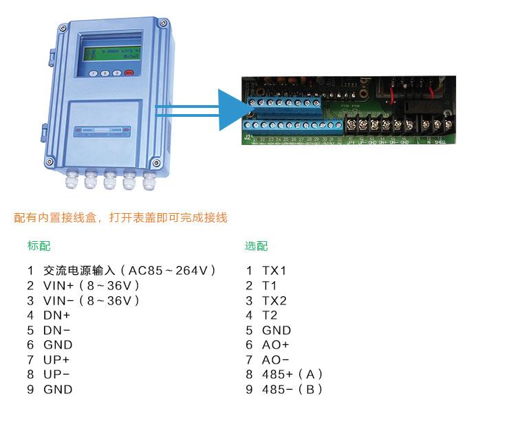 壁挂管段式超声波流量计TDS-100F1AG