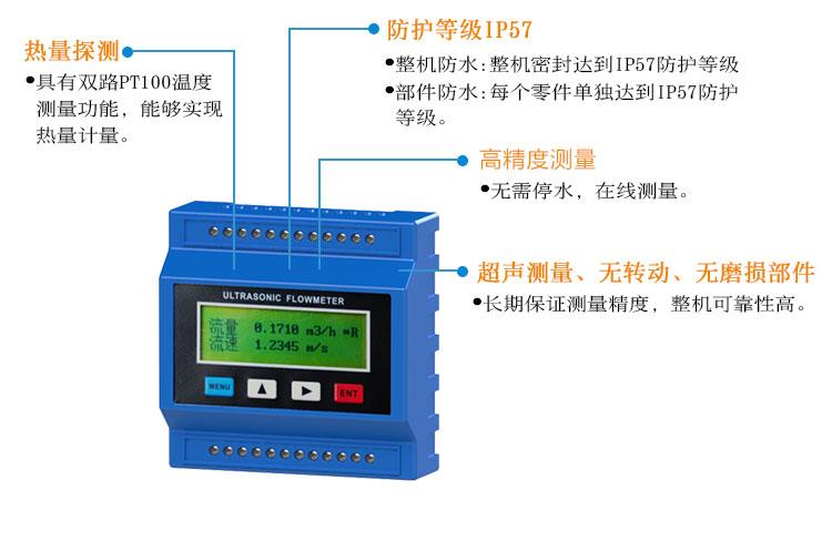 模块管段式超声波流量计TDS-100M