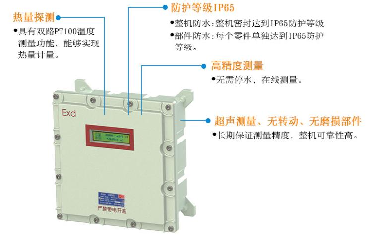 防爆管段式超声波热量表