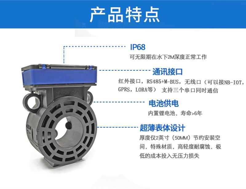 DN50超声波卡片式水表