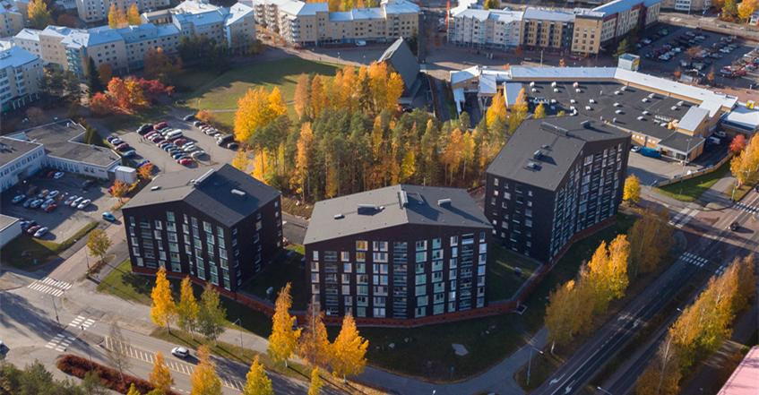【芬兰】芬兰Puukuokka:第一栋芬兰八层楼高的木质公寓楼