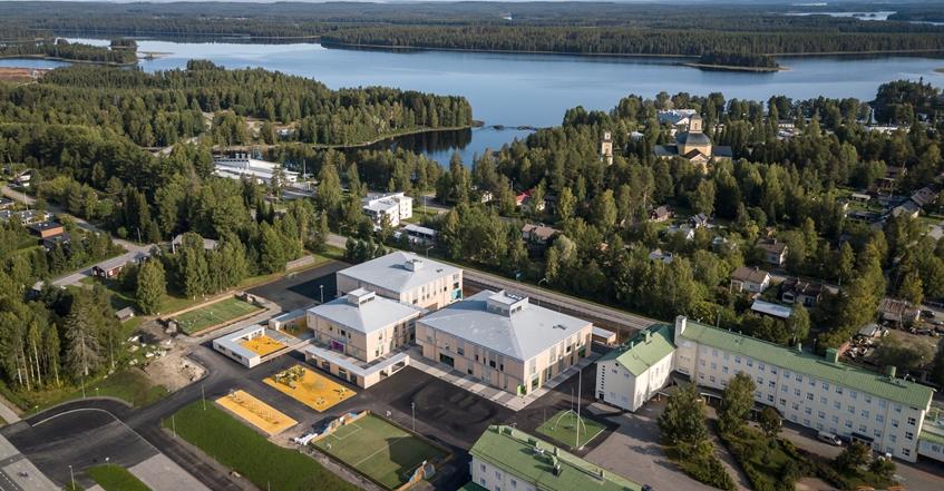 【芬兰】Tuupala小学:芬兰第一栋CLT木结构学校