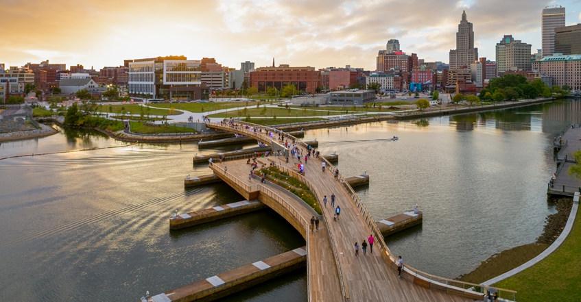 【美国】普罗维登斯人行天桥,将被切断的城市连接