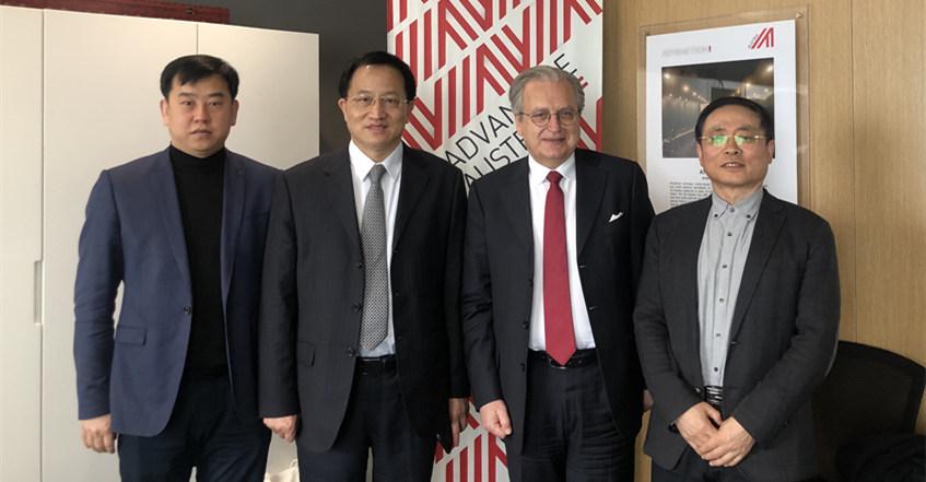 刘能文主任一行到奥地利使馆商务处交流座谈