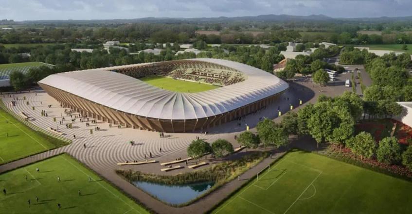 """全球首座木结构足球场提案通过——""""生态体育场""""方案新进展"""
