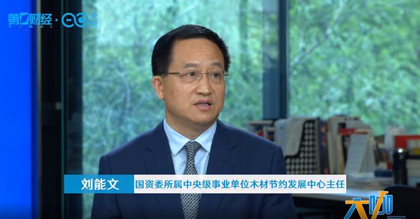 刘能文名誉会长就木材行业接受第一财经频道专访