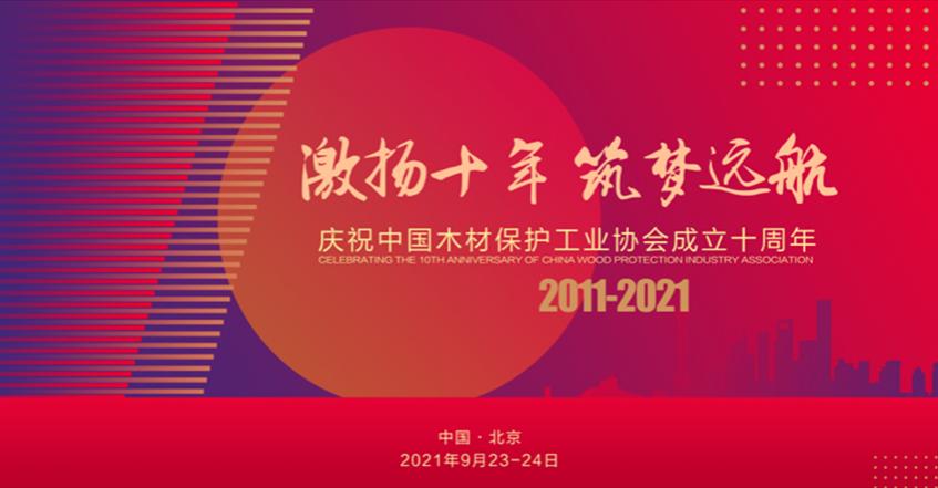 日程:中国木材保护工业协会成立十周年活动