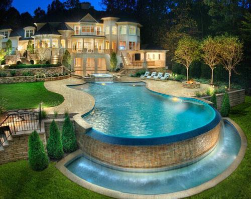 露天别墅泳池