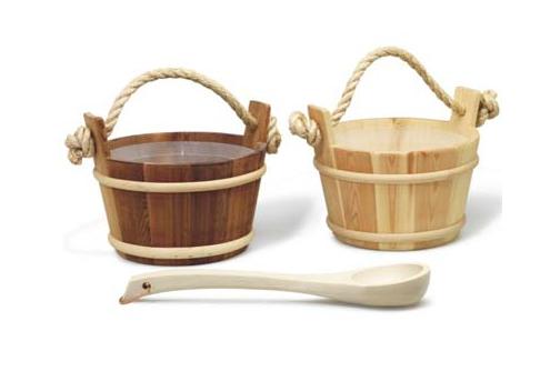 TYLO 传统桑拿房用木桶、木勺