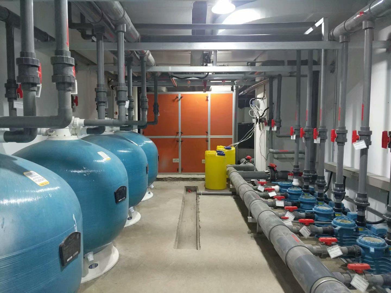 泳池水处理设备的选择事项以及其循环