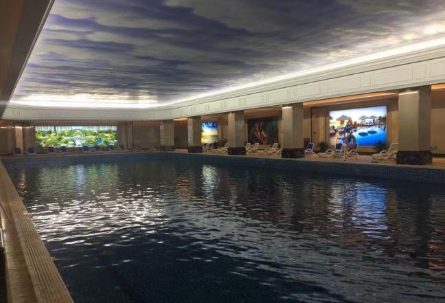 臺州冠郡銘苑室內恒溫泳池設備工程