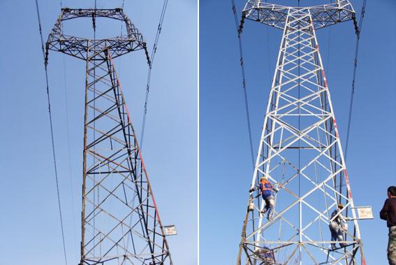 2012年5月高压线塔防腐