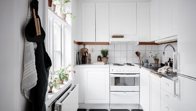 厨房暖气片安装效果图