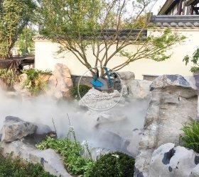 重庆土主镇融创文旅城茶山竹海区域喷雾造景