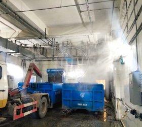 四川广元万达广场垃圾房喷雾除臭项目