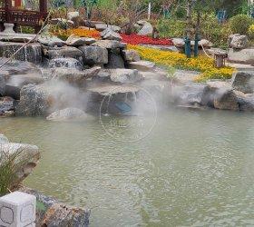 青海海东河湟小区售楼部水雾造景项目