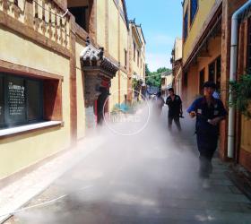 湖北武汉木兰花乡景区喷雾景观项目